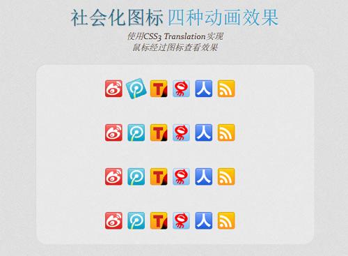 使用CSS3为社会化图标添加动画效果
